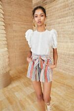 Ulla Johnson 2019 Martin Striped Shorts, $245 NWT, Size US 6