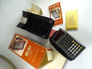 Vtg Texas Instrument SR-40 Electronic Slide Rule Algebraic Computer Calculator