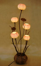 Paper Ball Art Deco Shade Lantern Home Decor Table Floor Brown Touch Lamp Light