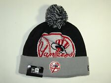 New Era MLB New York Yankees Logo 2 Tone Cuffed Pam Knit Beanie Hat Cap NewEra