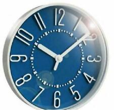 "Westclox 10"" Round Beautiful Blue and White Wall Clock 33215SB"
