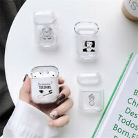 For Apple AirPods Accessories Clear Crystal Case AirPod Soft TPU Cover Protector