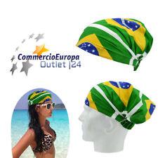BANDANA UNISEX BRAZIL RIO DE JANEIRO CARNIVAL BRASILE COPRI CAPO