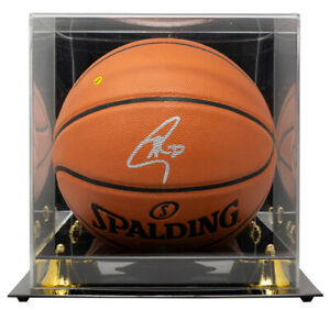 Stephen Curry Signed Warriors Basketball w/Case BAS Graded 10 LOA A43538