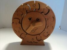Childerns Wooden Clock Puzzle, Learning, Educational, Tommy Timer, Telling Time
