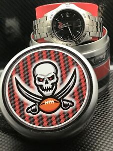 TAMPA BAY BUCCANEERS NFL Stainless Steel Watch by Fossil NEW (RARE)