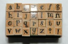 Hand Stamps - Rubber on wood  - Hero Craft  - Carnival alphabet  - Boxed