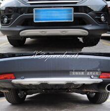 Aluminium alloy Front + Rear Bumper Protector Cover Trim For 2012 Honda CRV CR-V