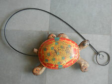 Rare Vintage Colorful Tortoise Pull Along Litho Tin Toy , England ?