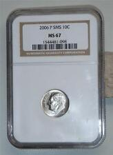 2006 P SMS Roosevelt DIME graded NGC MS 67 free shippping USA