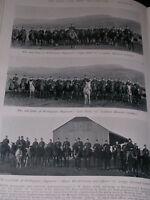 1896 2ND Duque De Botas de Goma Regimiento Montado Infantry