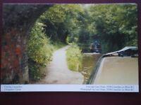 POSTCARD D4-11 DENBIGHSHIRE LLANGOLLEN CANAL - VIEW FROM FRONT OF BARGE