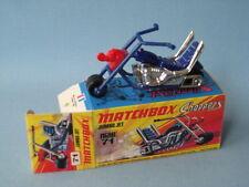 LESNEY MATCHBOX superveloce JUMBO CHOPPER BIKE Boxed BLU FORCHETTE Retro 70'S