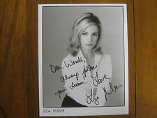 """LIZA  HUBER (""""Passions""""/Susan  Lucci's Daughter)  Signed  8 X 10   B & W   Photo"""