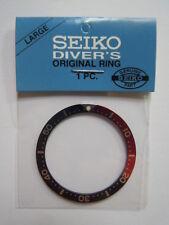 NEW SEIKO LARGE PEPSI BEZEL INSERT FOR SEIKO DIVER'S 7S26 / 6309 /  6105 / 7002