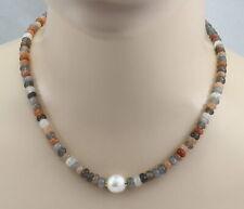 BAILYSBEADS designer mehrfarbige Edelsteine Halskette Kette Rondelle bunt 024