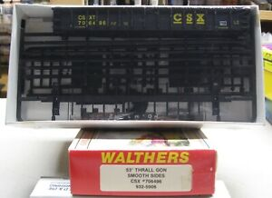 WALTHERS HO CSX 53' THRALL GON SMOOTH SIDES 932-5906