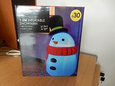 wilko1.2m inflatable snowman with 5m power cable- Great for Christmas Decoration
