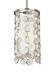 """Feiss P1429PN 13"""" Mini Pendant in Polished Nickel"""