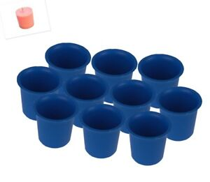 10 x Seamless Votive Candle Making Moulds, UK Made, Rigid Plastic, Craft. S7619