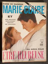 'MARIE-CLAIRE' FRENCH VINTAGE MAGAZINE MARLENE DIETRICH INSERT FEBRUARY 1960