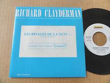 """DISQUE  45T HORS COMMERCE DE RICHARD CLAYDERMAN  """" LES RIVAGES DE LA NUIT """""""