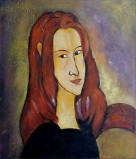 Hand Painted Oil Painting Repro Amedeo Modigliani Portrait of Jeanne  20x24in