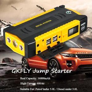 16500 mAh 12V 600A Car Jump Starter Portable USB Power Bank Battery Booster Clam