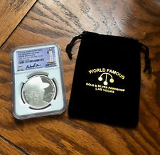 """PAWN STARS """"OLD MAN"""" 1 OZ .999 SILVER MEDALLION WITH NGC CERTIFIED CASING #J206"""