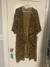 NWT LuLaRoe Medium M Shirley Leopard Cheetah Sheer Cover Up Gorgeous