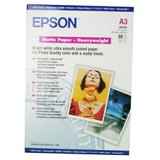 EPSON HEAVY WEIGHT 167GSM MATTE FINISH A3 INKJET PHOTO PAPER / 50 PK C13S041261