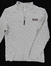 Vineyard Vines Classic 1/4 Zip Cotton Shep Shirt (Womens X-Small) Gray