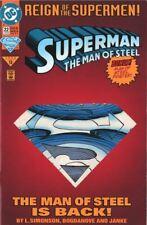 DC Superman Man of Steel 22  Die Cut Cover