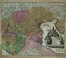 ITALIA VENETO GOLFO DI VENEZIA PARMA MODENA- HOMANN  Johannes  Baptiste 1720ca.