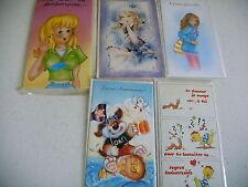 lot 5 cartes anniversaire neuves + enveloppes sous sachet plastique - lot 4