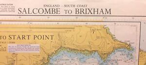 ADMIRALTY SEA CHART. SALCOMBE to BRIXHAM.  NO.1634. ENGLAND SOUTH COAST. 1984