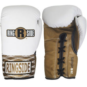 Ringside Boxing Ultimate Pro Fight Gloves - White / Brown