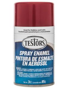 Testors Ruby Red Metalflake enamel Spray Paint Can 3 oz. 1629