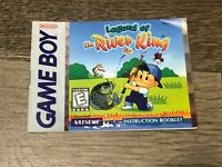 Legend of the River King Instruction Manual Booklet Nintendo Game Boy Authentic