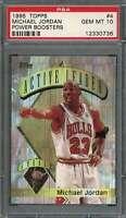 Michael Jordan Card 1995-96 Topps Power Boosters #4 Chicago Bulls PSA 10