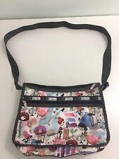 LeSportsac 7519 Deluxe Shoulder Satchel  ART SCHOOL D627 Cross body Purse Bag