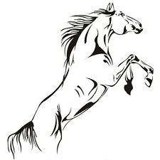 Horses Swagger glass trend for home decoration PVC wall stickers N3
