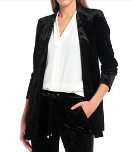 Calvin Klein Petite Long Velvet Blazer MSRP $149 Size 6P,8P # 5D 1508 NEW