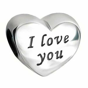 I Love You Heart Charm S925 Sterling Silver Gift for Wife Mum Nan Daughter