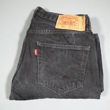 Mens Black LEVI STRAUSS 501 W31 L28 Vintage Red Tab Denim Jeans 501s #D3560