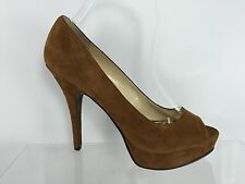 Enzo Angiolini Womens Brown Leather/suede Heels 7.5 M