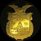 1898 SPAN-AMER WAR 2nd Reg Mass MUSTERED OUT at Springfield badge *ship incl.*