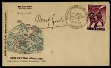 A02 India Everest Expedition 1965 FDC First Day Cover Signed Madras Used Rare.
