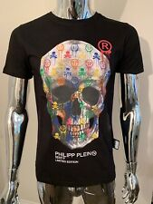 "Philipp Plein SS ""Skull"" XXL Black T-Shirt Genuine BNWT"