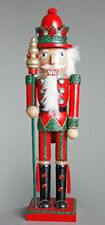 15 Inch Nutcracker with Red and Green Glitter Jacket